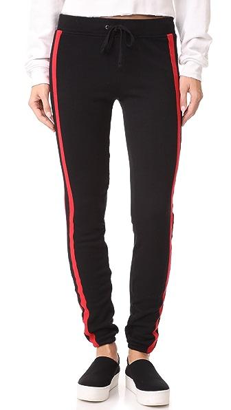 Pam & Gela Sport Stripe Basic Sweatpants In Black