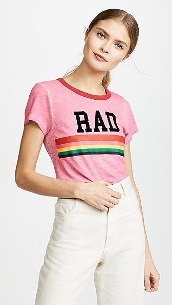 Pink Rad Rainbow Ringer Tee
