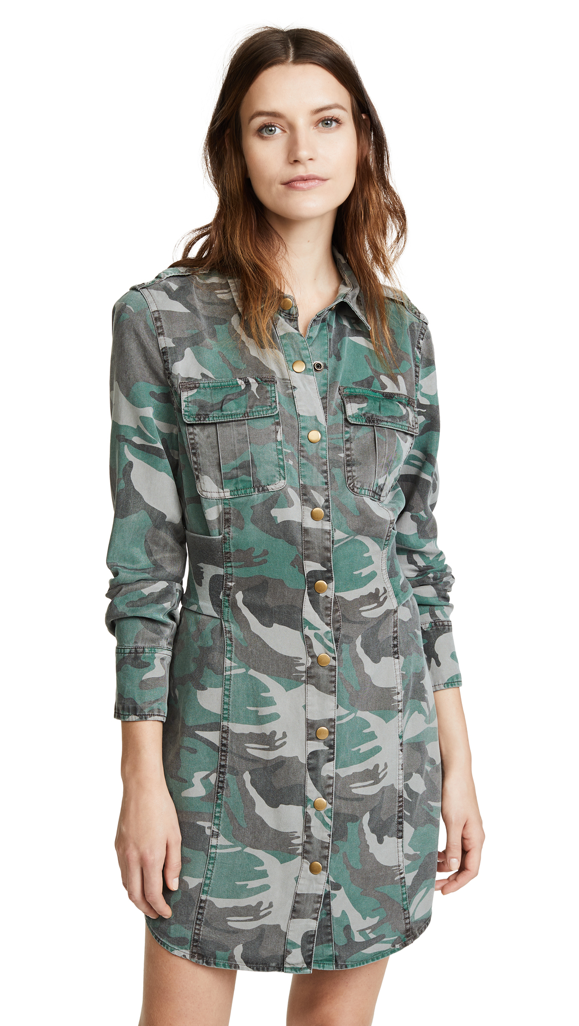 Pam & Gela Camo Shirt Dress