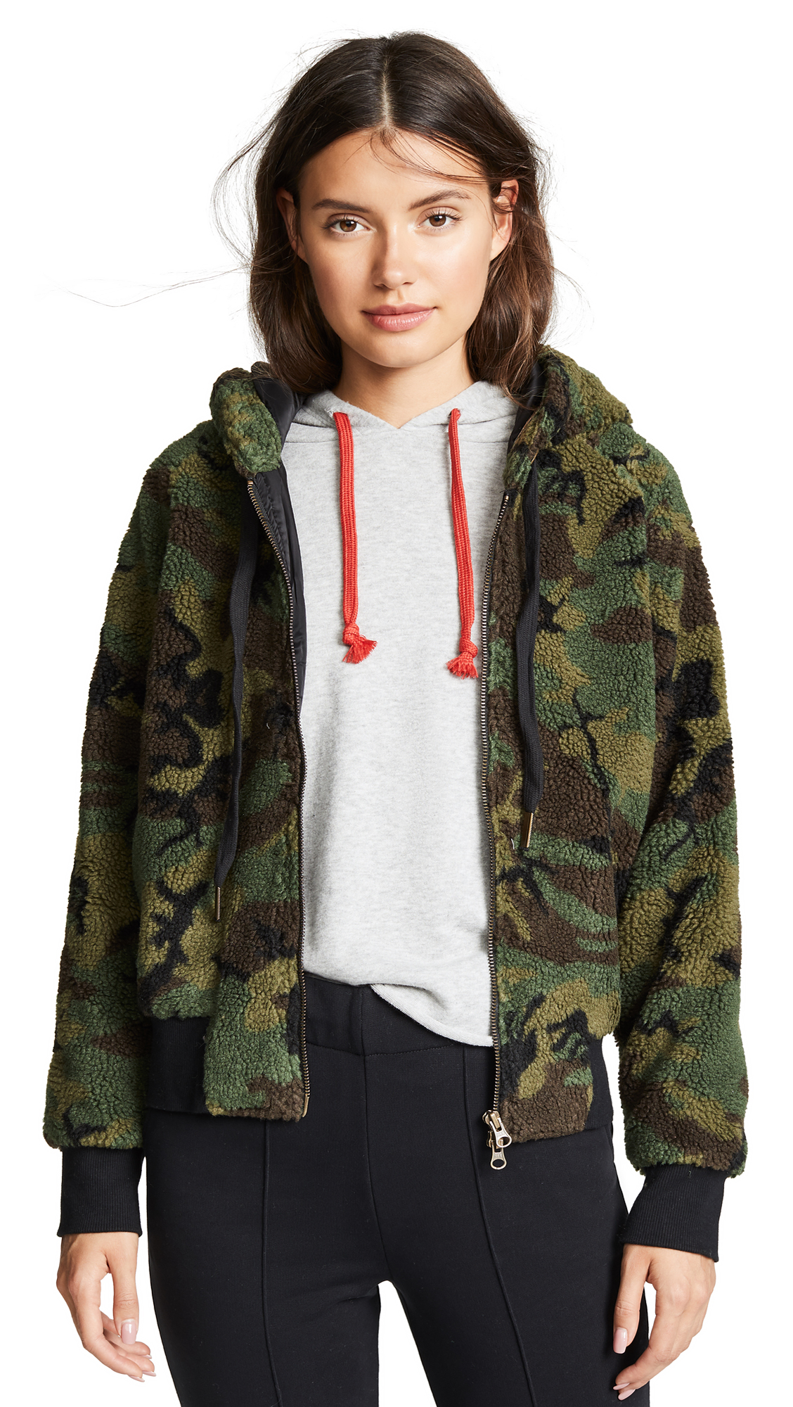 Sherpa Hoodie in Army Camo