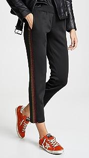 Pam & Gela Crop Track Pant with Stone Rainbow