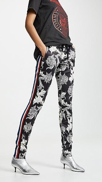 Pam & Gela Pants COLORBLOCK FLORAL CIGARETTE PANTS