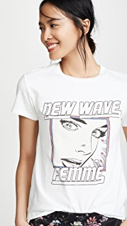 Pam & Gela New Wave Logo Tee