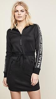 Pam & Gela 徽标运动风格条纹连衣裙