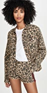 Pam & Gela Leopard Army 衬衫式夹克