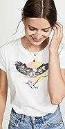 Pam & Gela Eagle Logo Crop Tee