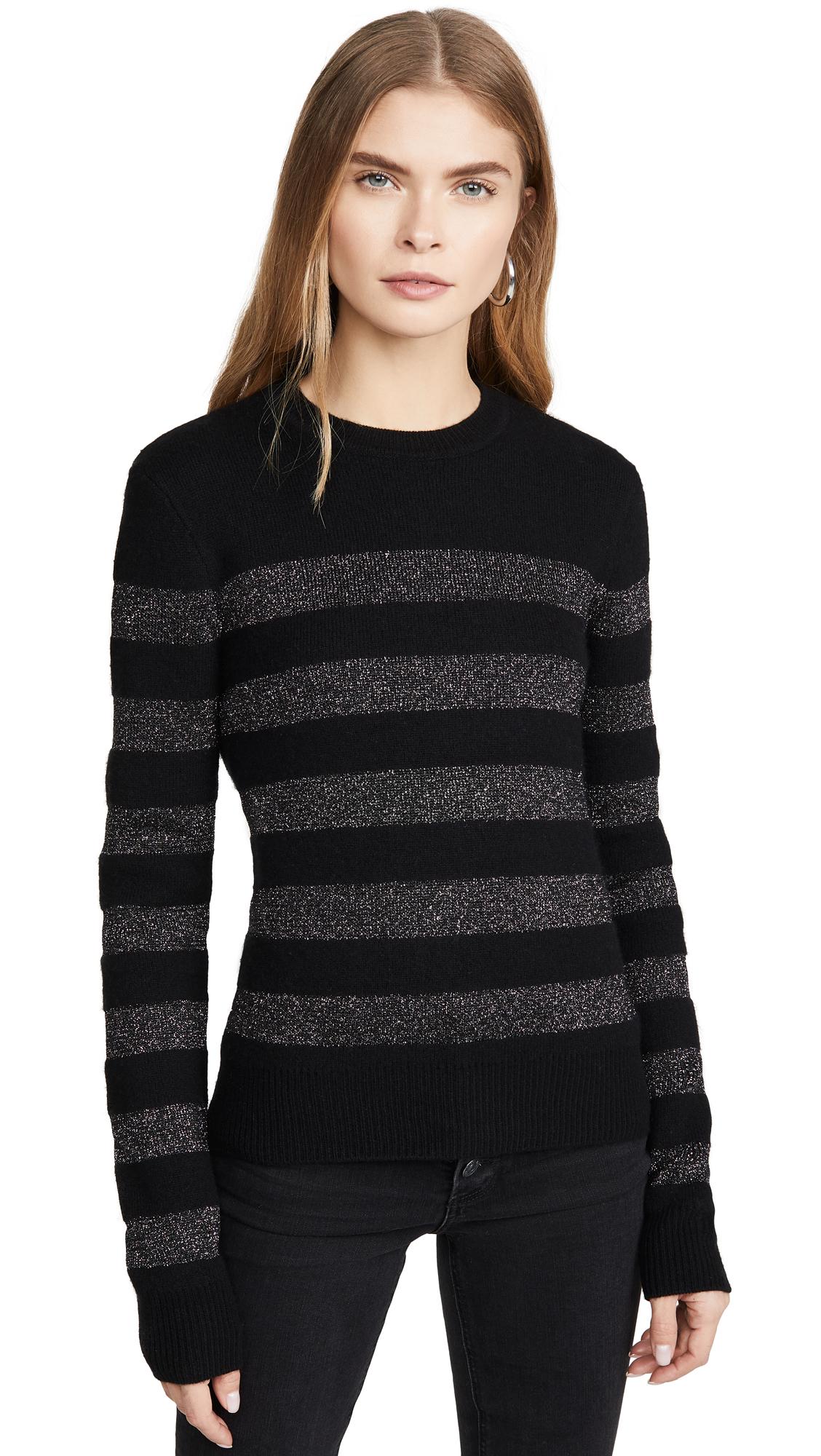 Buy Pam & Gela online - photo of Pam & Gela Metallic Stripe Crew Sweater