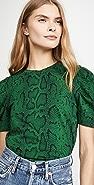 Pam & Gela 泡泡袖蛇纹 T 恤