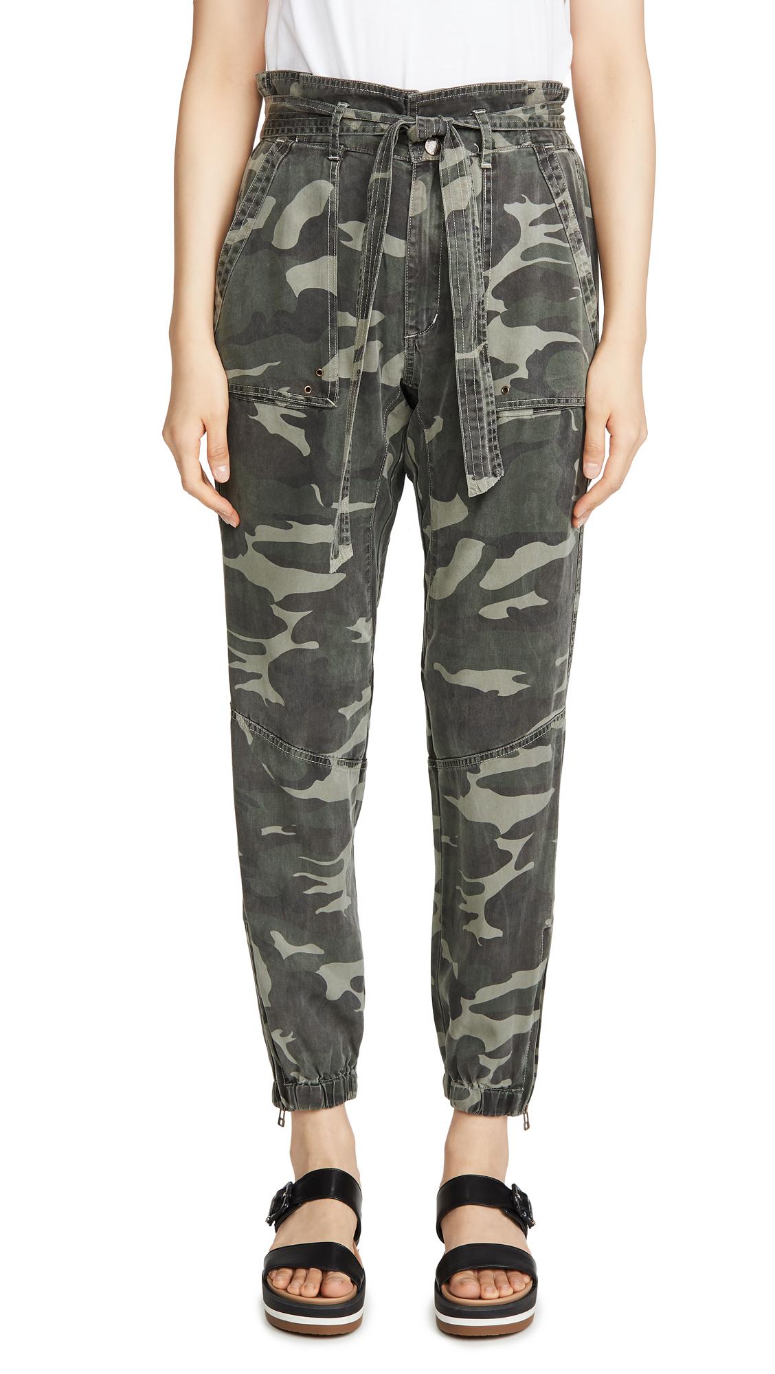 Buy Pam & Gela online - photo of Pam & Gela Folded Waist Camo Pants