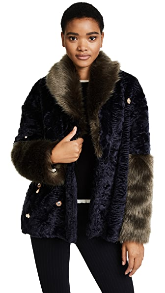 Pamplemousse Elise Faux Fur Coat at Shopbop