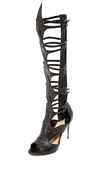 Paul Andrew Leila Gladiator Heeled Sandals - Black