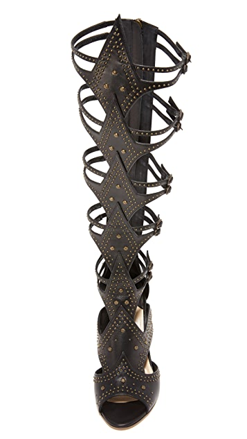 Paul Andrew Leila Gladiator Heeled Sandals