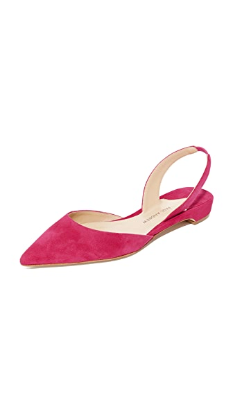 Paul Andrew Rhea Point Toe Flats - Primrose