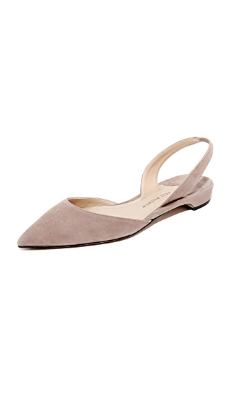Paul Andrew Rhea Suede Flats - Taupe