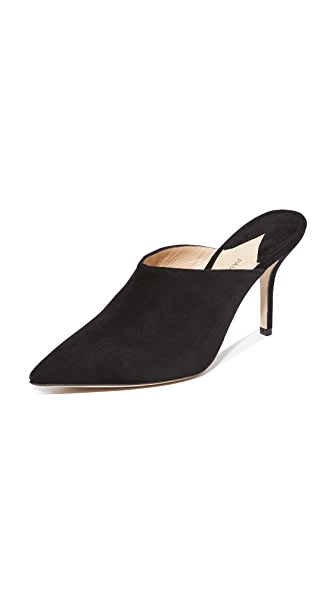 Paul Andrew Heel Mules - Black