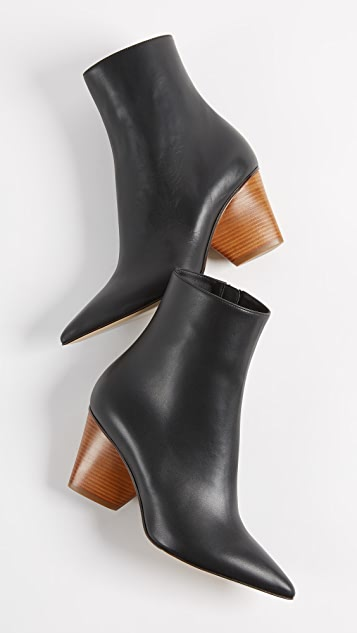 Paul Andrew Tivoli Wood Heel Booties