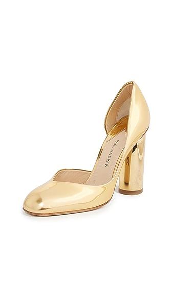 Paul Andrew High Heel Pumps In Gold