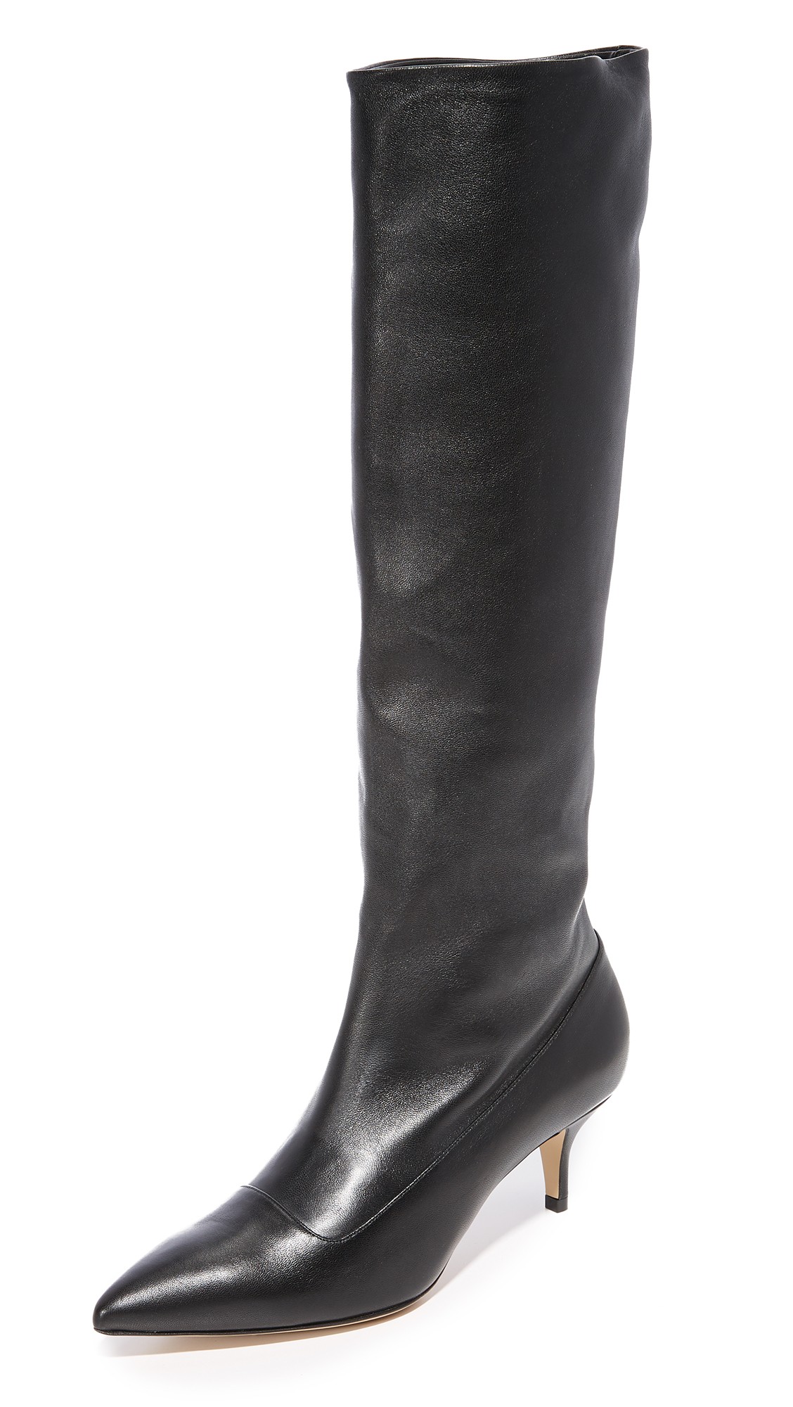 Paul Andrew Nappa Slouchy Boots - Black