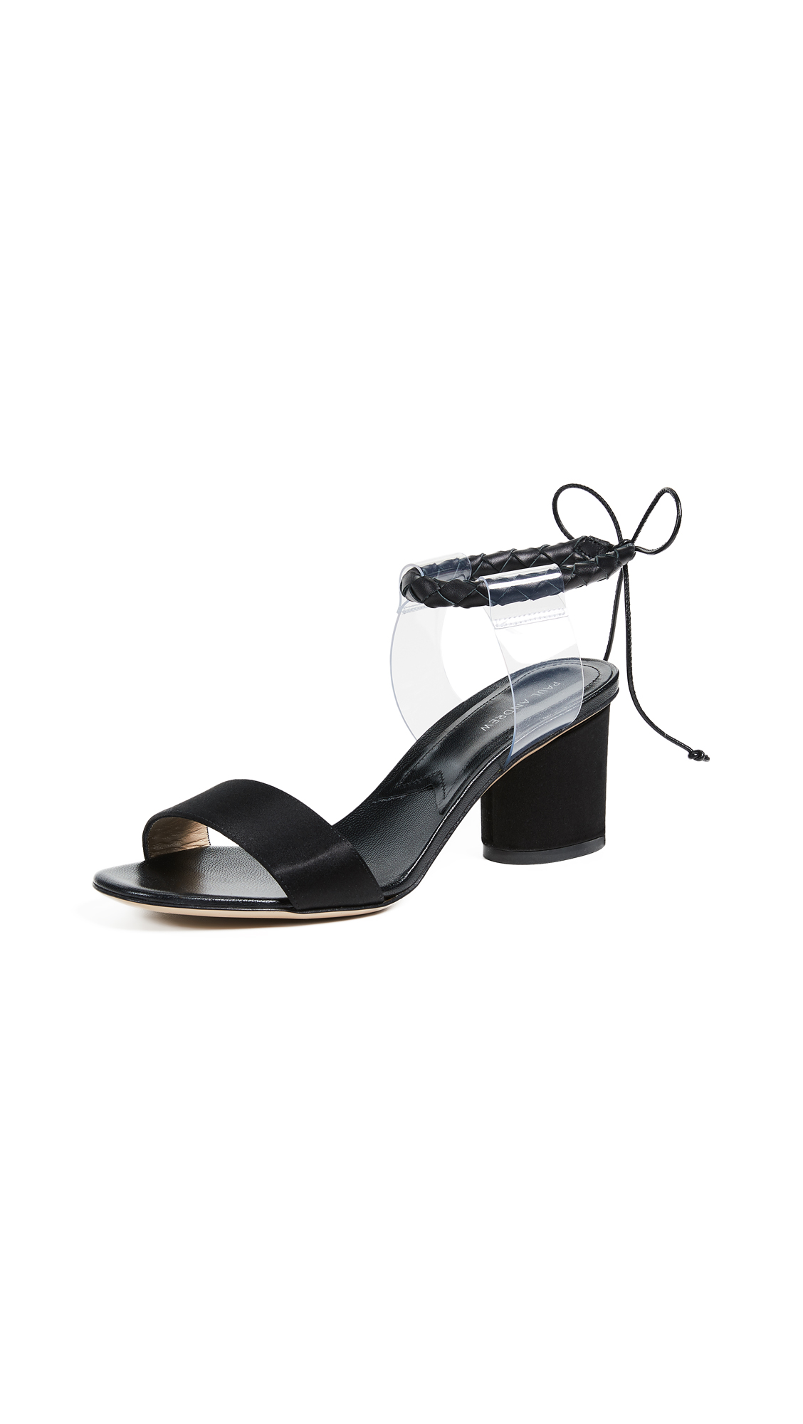 Paul Andrew Estes Sandal Pumps - Black/Transparent
