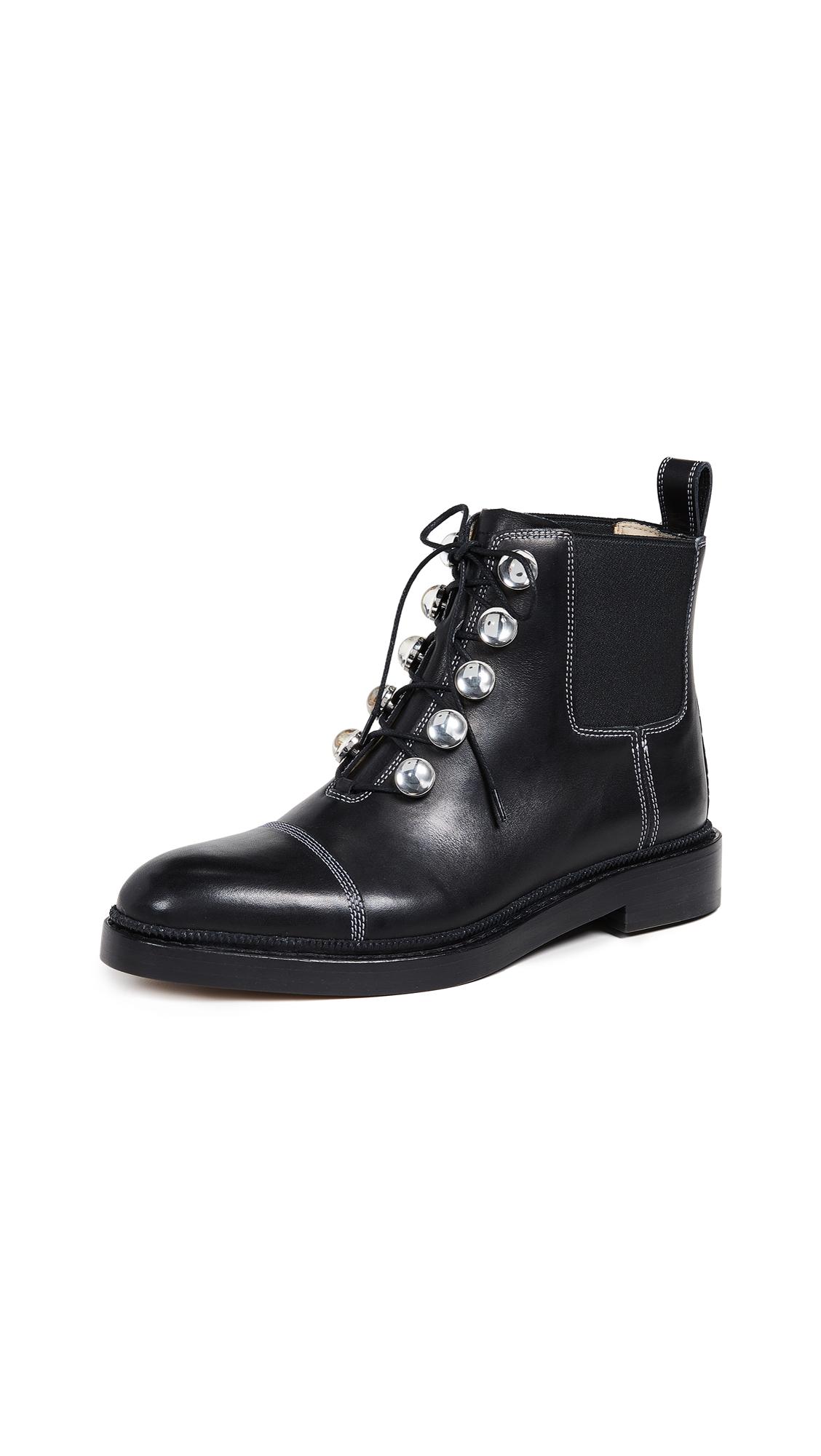 Paul Andrew Brescia Stones Boots - Black/White