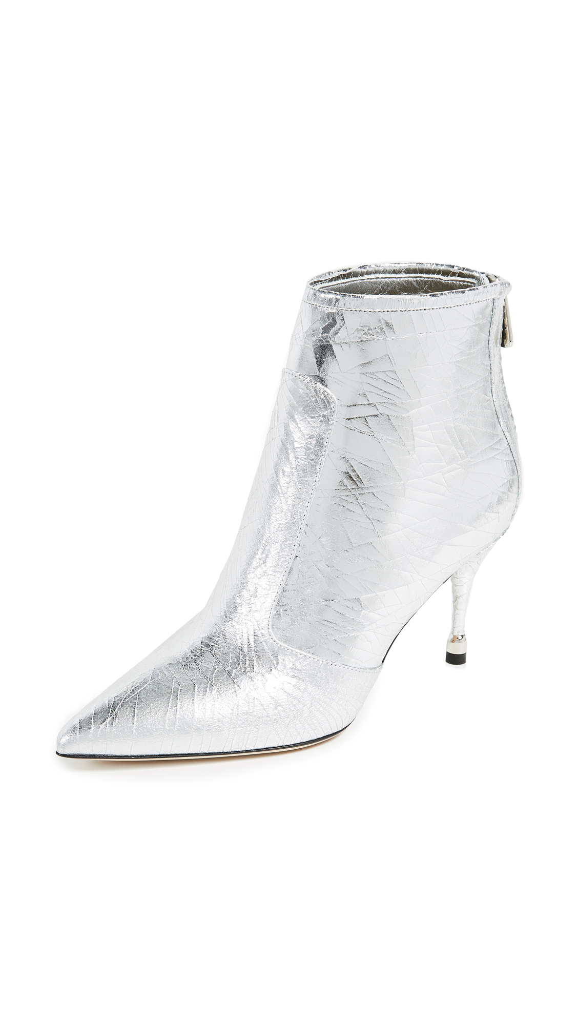 Paul Andrew Citra 75mm Booties - Silver