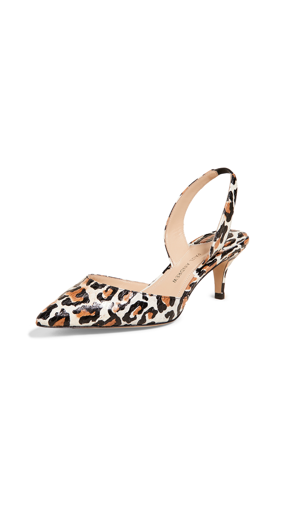 Paul Andrew Rhea 55 Slingback Pumps - Natural