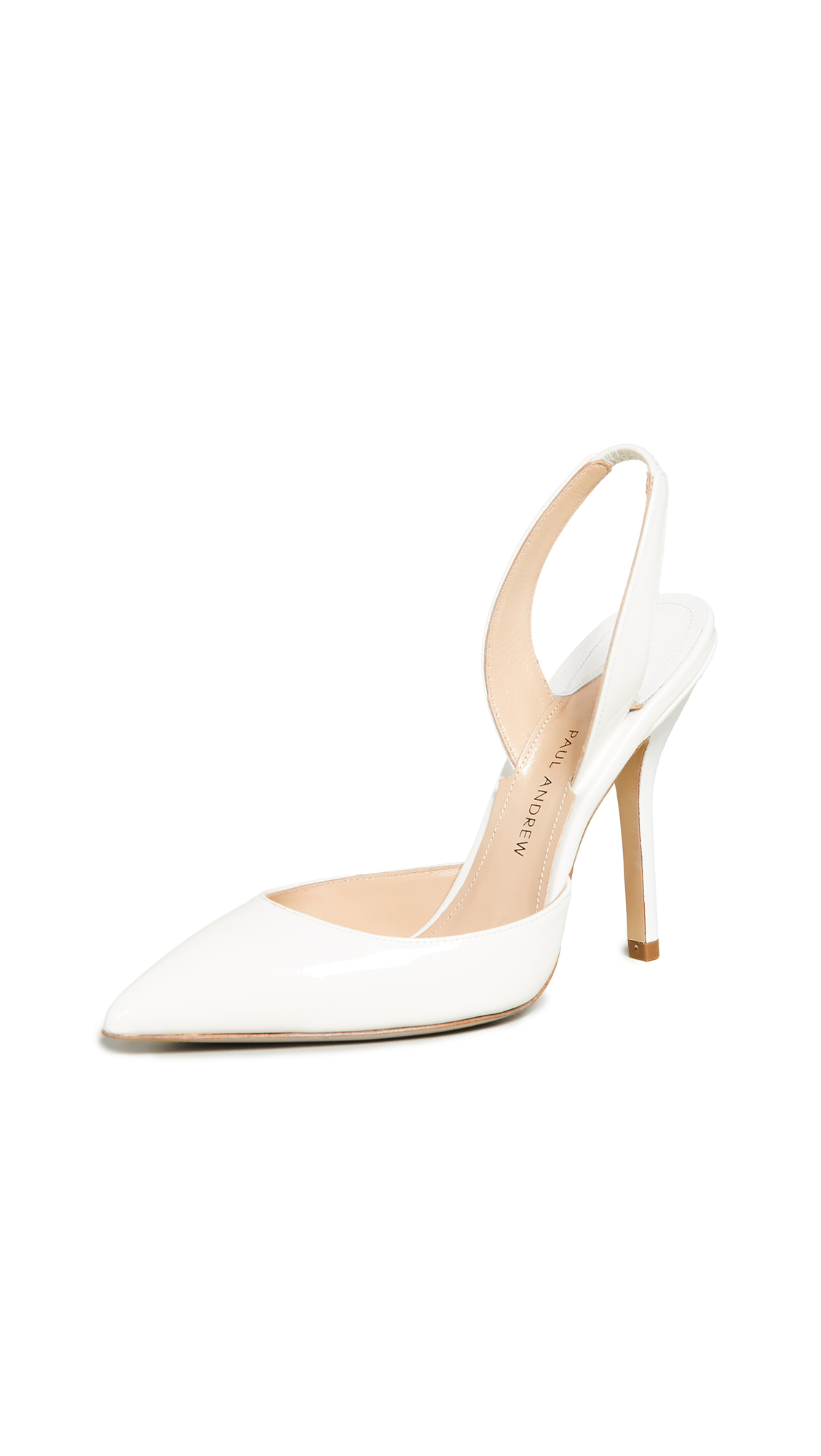 Paul Andrew Passion Slingback Pumps - White