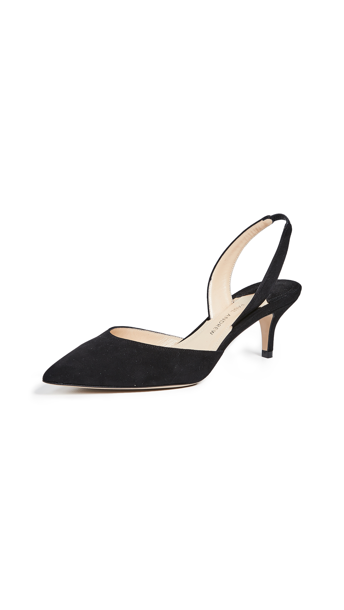 Paul Andrew Rhea 55 Slingback Pumps - Black