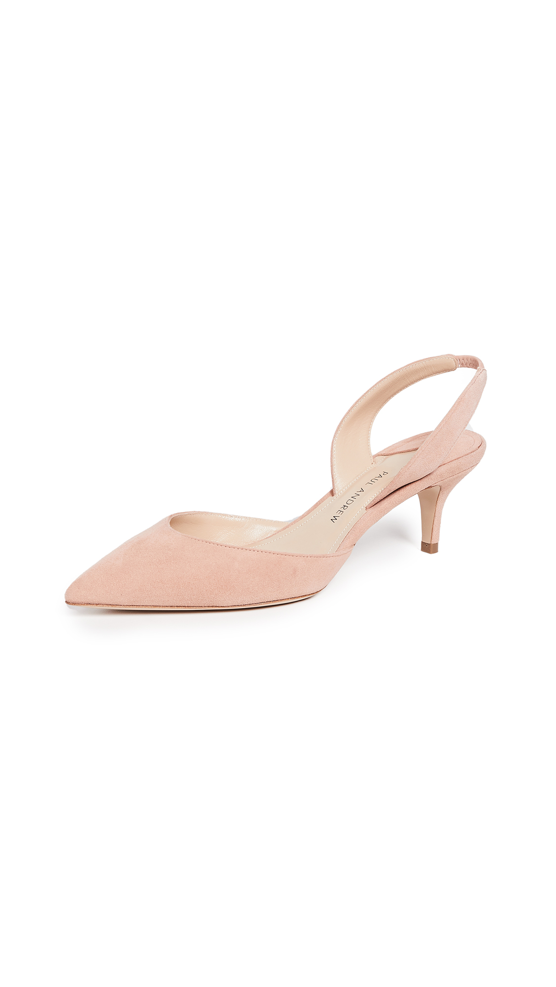 Paul Andrew Rhea 55 Slingback Pumps - Blush