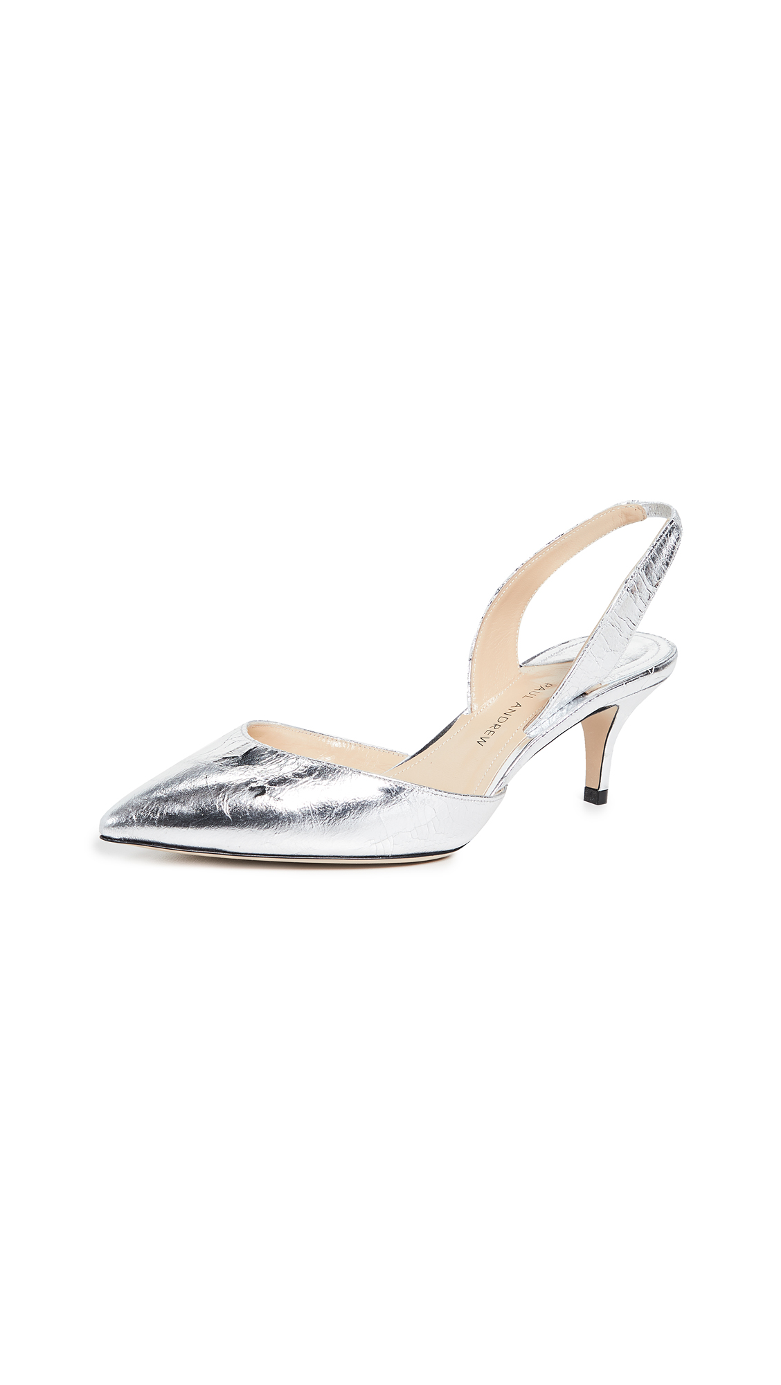 Paul Andrew Rhea 55mm Slingback Pumps - Silver
