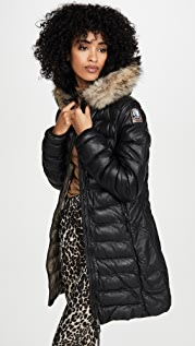 Parajumpers Demi Leather Puffer Jacket