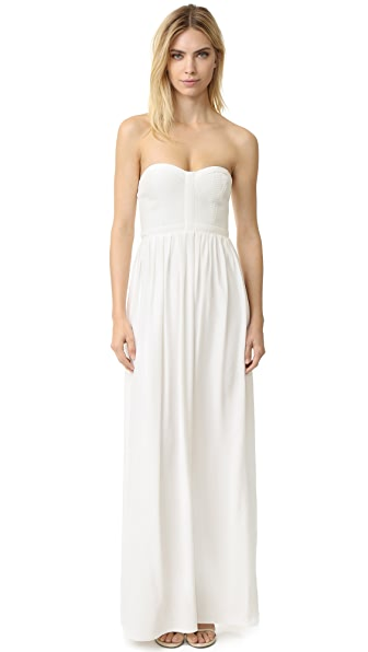 Parker Parker Black Bayou Silk Gown In Ivory