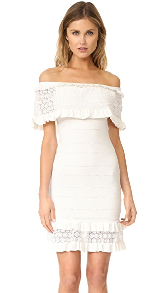 Parker Cora Knit Dress - White