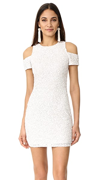 Parker Parker Black Marcie Dress In White