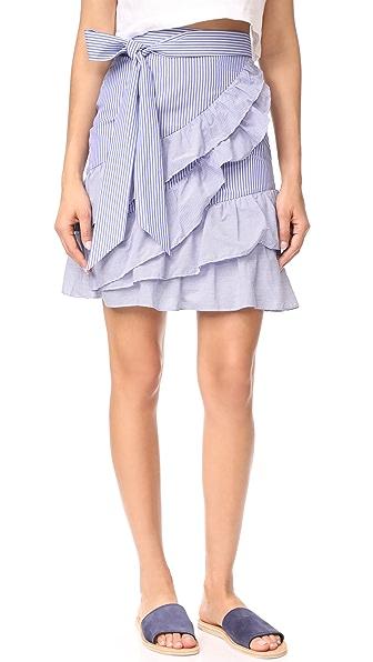 Parker Lambert Skirt - Blue/White