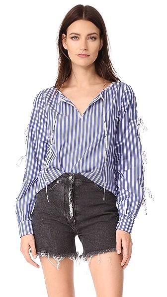 Parker Lavinia Combo Blouse - Multi Stripe