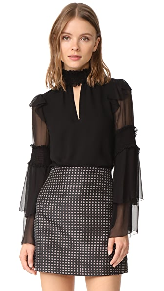 Parker Nan Blouse In Black