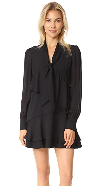 Parker Kenji Combo Dress In Black