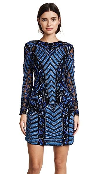 Parker Parker Black Isabelle Dress In Sapphire