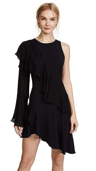 Parker Neo Combo Dress In Black