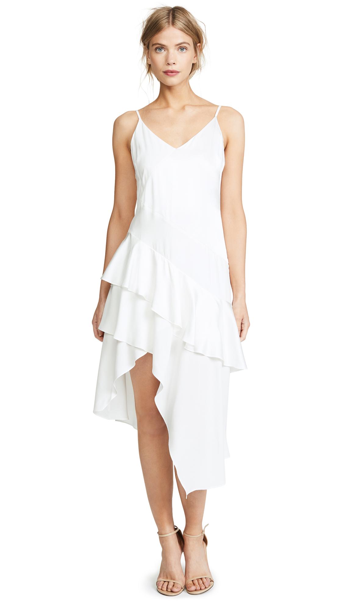 Parker Selma Combo Dress In Ivory