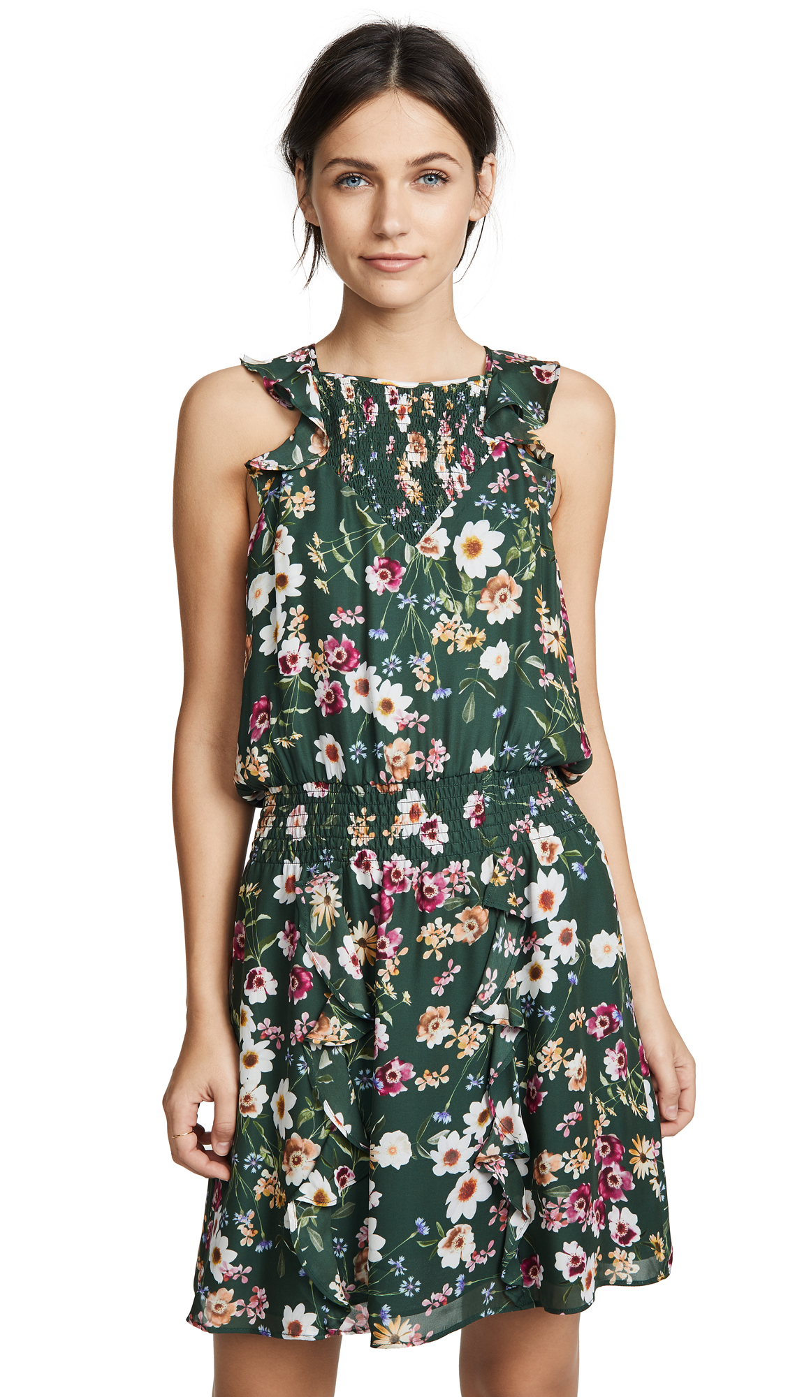 Parker Milly Dress In Cacti Daisy
