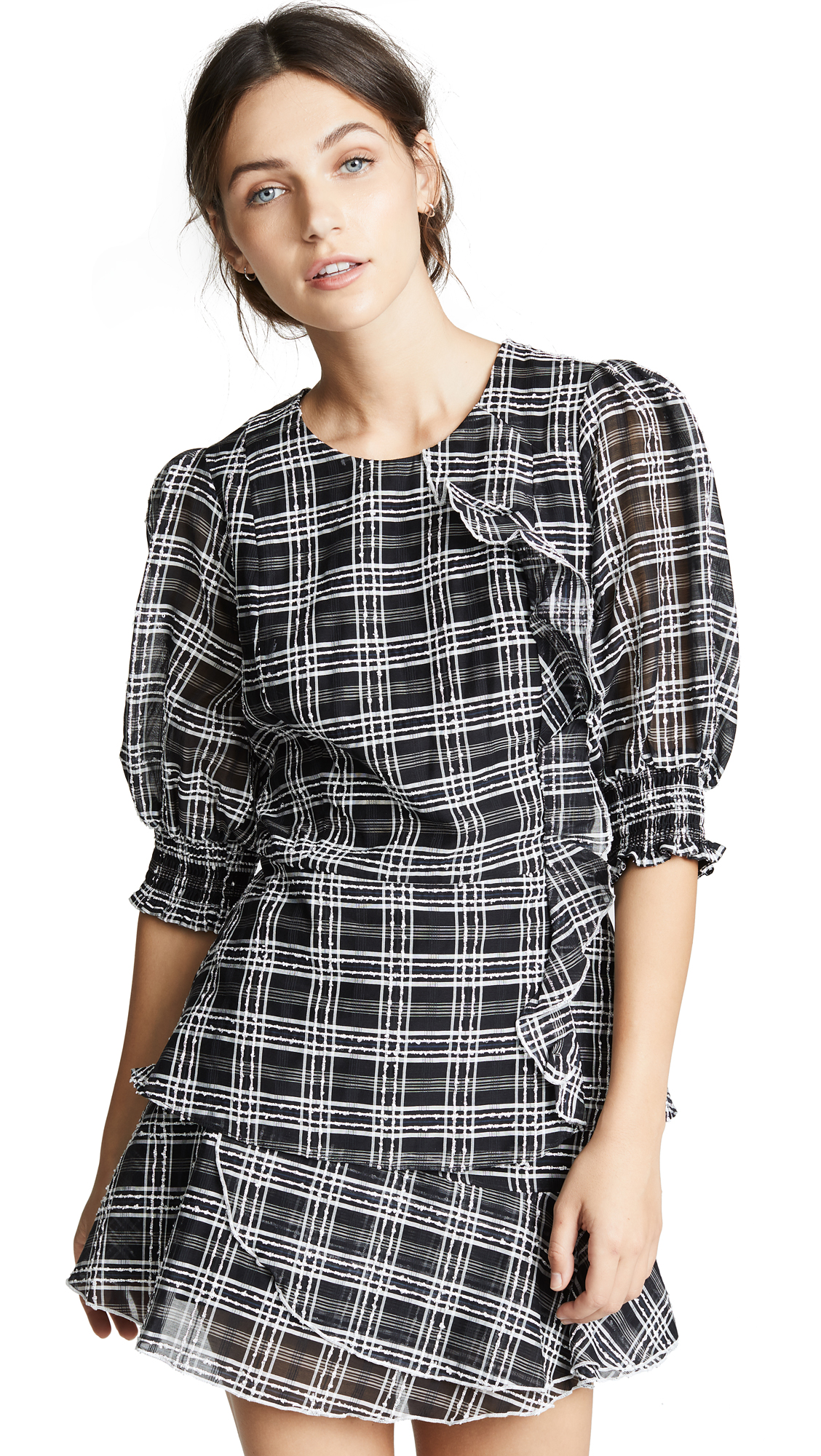 Parker Calli Blouse In Black/White