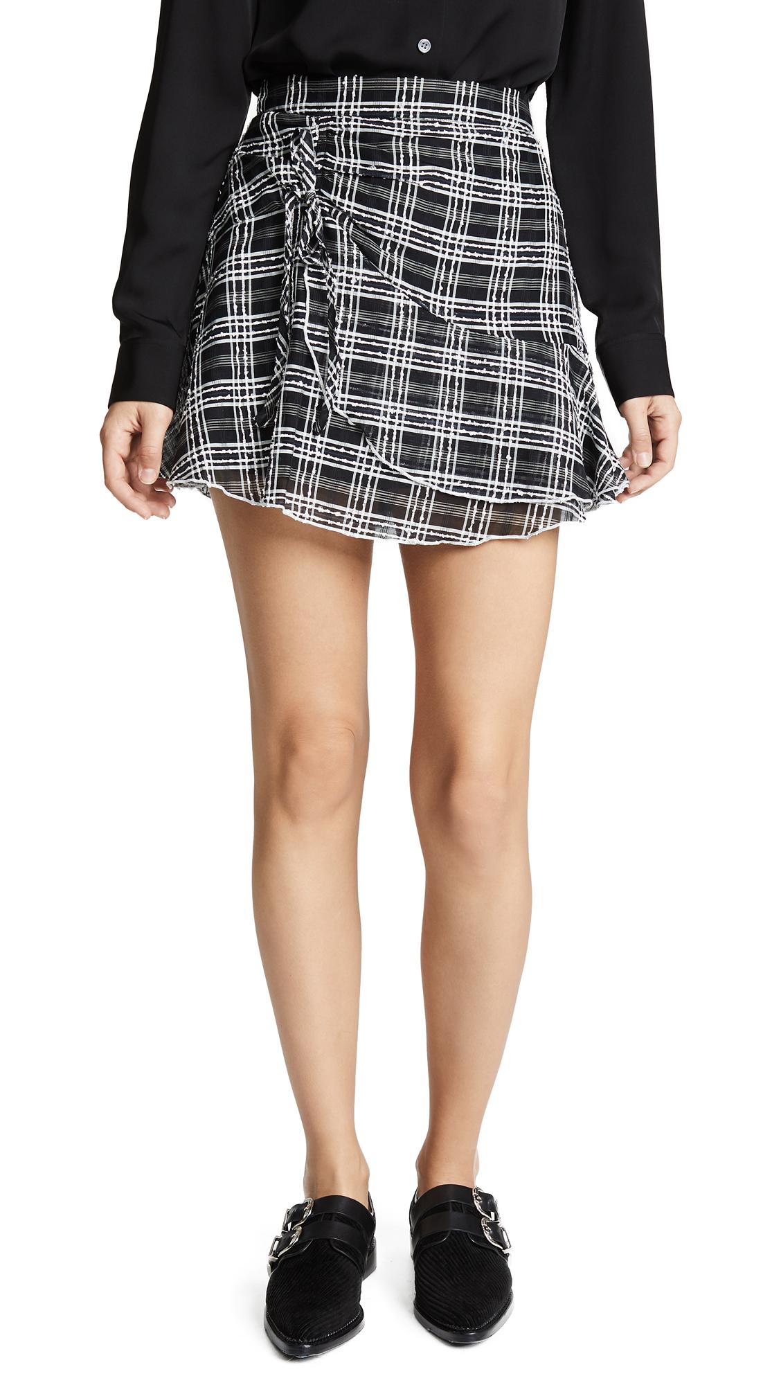 Parker Chris Skirt In Black/White