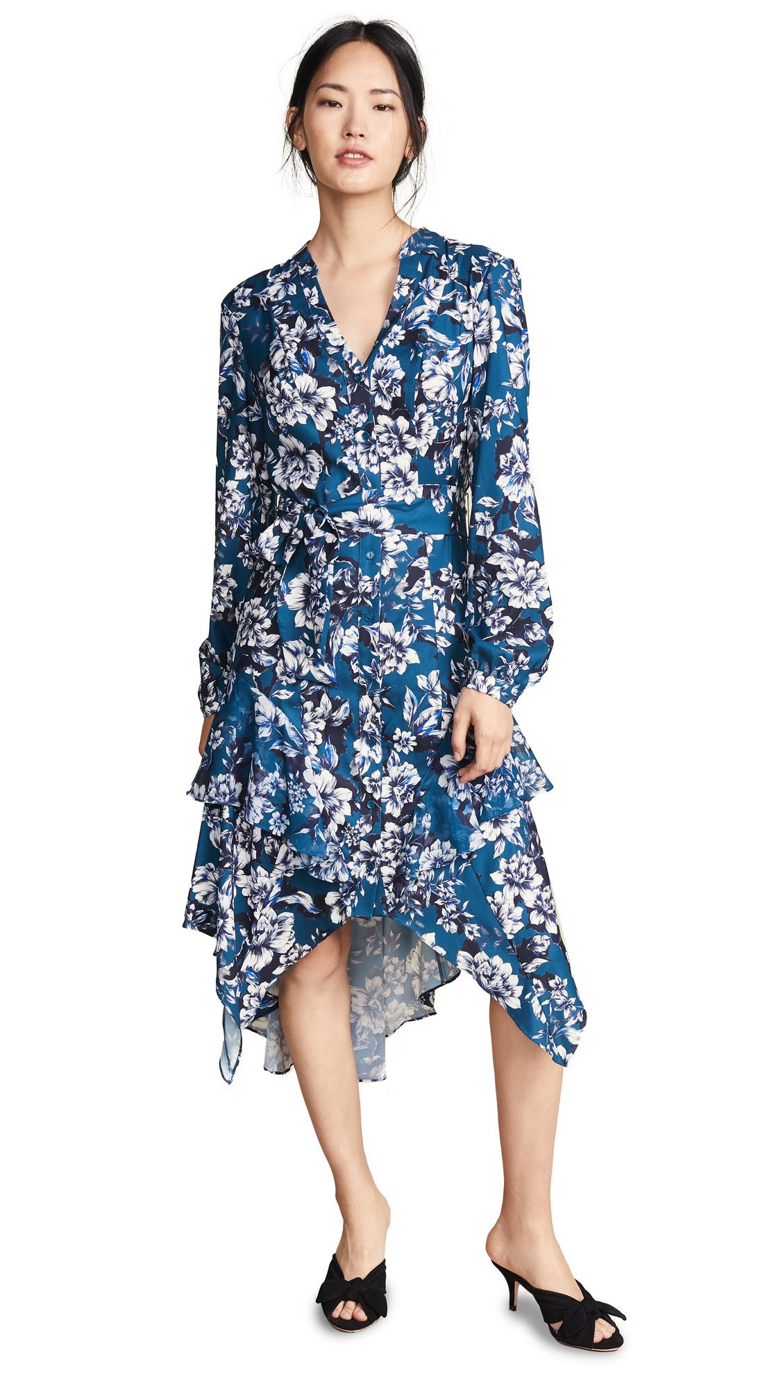 Parker Estella Combo Dress In Everglade Gardens