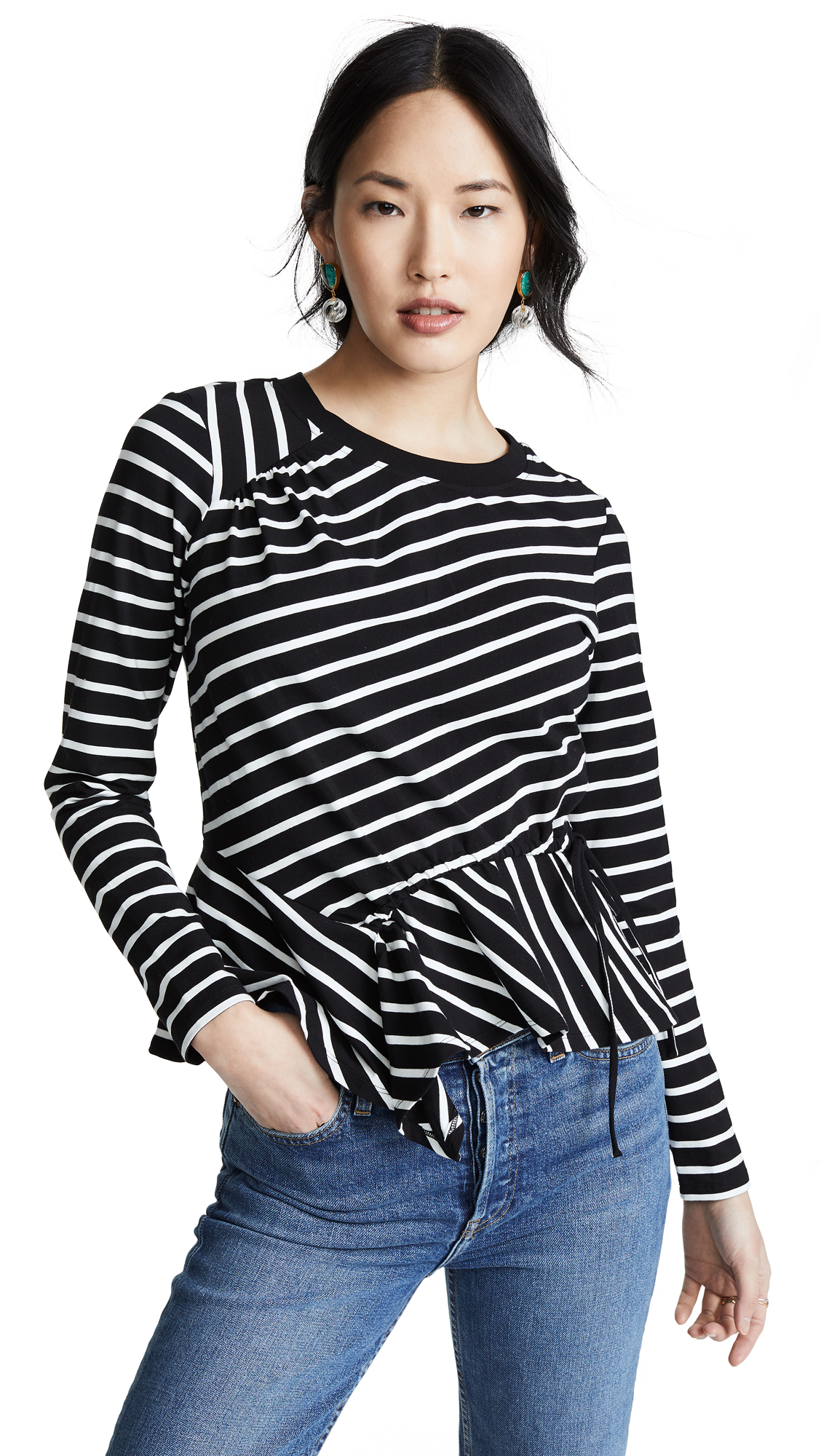 Parker Weekend Farris Top - Black/White Stripe