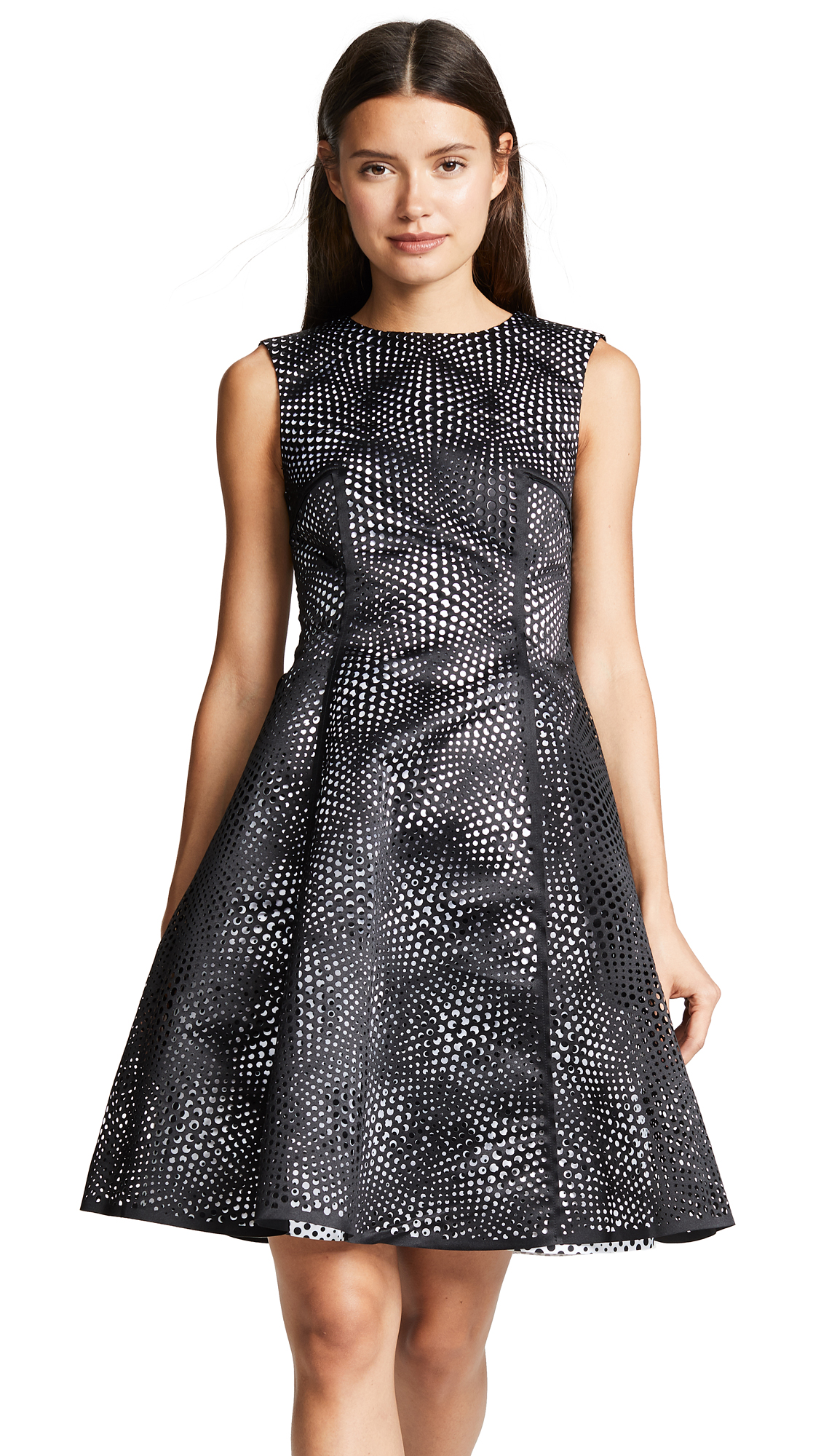 Paskal Laser Cut Optical Illusion Dress