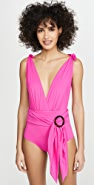 PatBO Plunge Belted One Piece