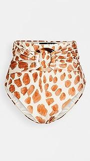PatBO Margot High Waist Bikini Bottoms