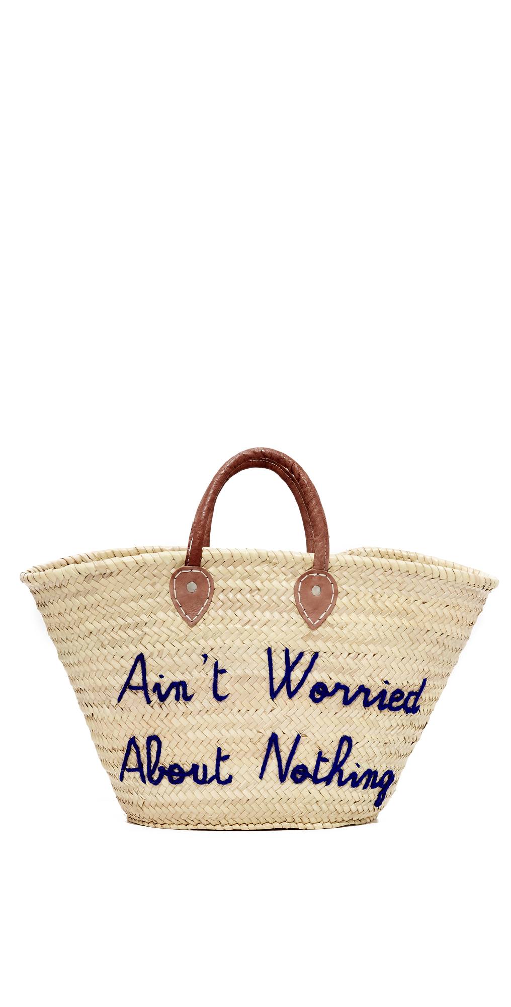 Ain't Worried About Nothing Tote Poolside Bags